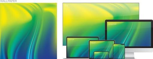 Wallpaper for smartphone tablet laptop desktopcomputer or tv vector