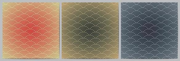 Geometric pattern with circle waves lines background vector