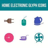 Unique Home electronics Vector Icon Set
