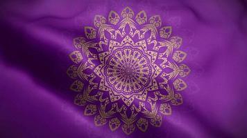 mandala doré sur motif de luxe violet video