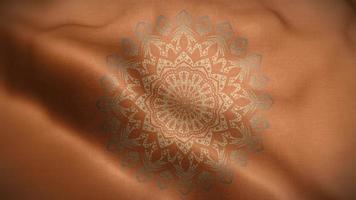 mandala doré sur motif de luxe brun orangé video