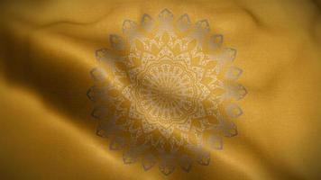 motif de luxe jaune mandala doré video
