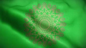 mandala doré sur motif de luxe vert video