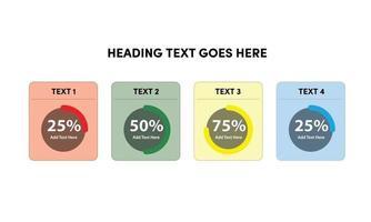 Circular Percentage Loader UI for reports, dashboard, presentation vector