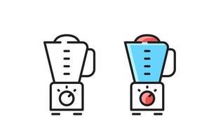 Food Processor - linear icon. Simple line vector symbol.