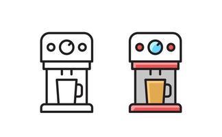 Coffee maker machine line icon. Kitchen household. Vector symbol.