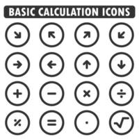 math icons collection vector