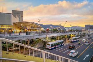 Nagasaki city downtown skyline cityscape in Japan photo
