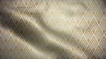 drapeau de motif de luxe triangle doré video