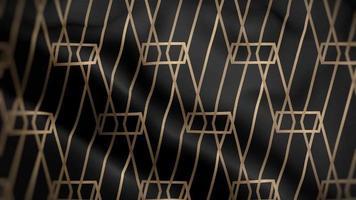 luxe à rayures dorées sur un drapeau noir video