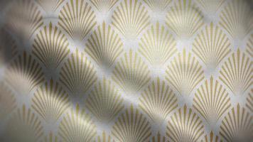 coquillages dorés sur un drapeau blanc video