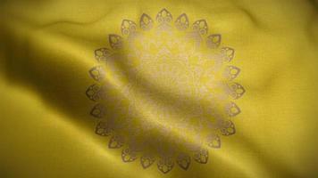 Silver Mandala Over a Golden Flag video