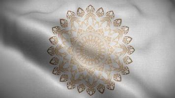 Golden Mandala Over a Silver Flag video