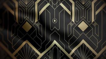 Futurist Golden Pattern Over a Black Background video