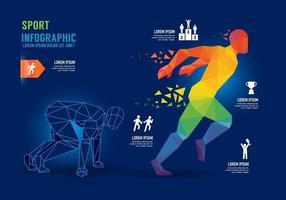 Infographics Sport Run Geometric Concept Design options banner. vector