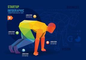 Infographics business startup Concept Design. Vector illustration.