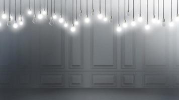 Idea concept with light bulbs video