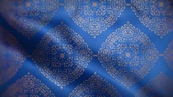 muitas mandalas douradas sobre uma bandeira azul royal video
