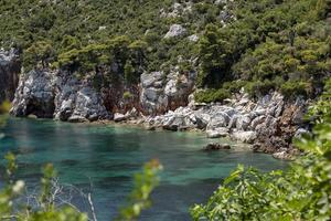 Pristine bay view of a greece island. photo