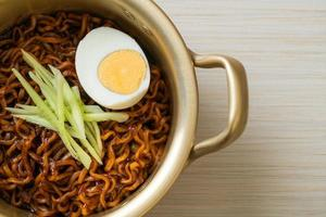 Korean Instant Noodle with Black Bean Sauce photo