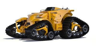 concepto de tractor autónomo genérico sin marca foto