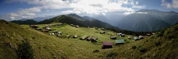 Turquía, rize, meseta de sal, foto de paisajes panorámicos