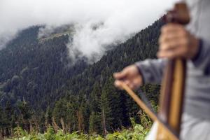 Turkey, Rize, Pokut Plateau, Turkish String Instrument photo