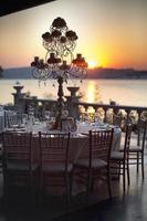 Wedding Guest Dining Table Decorations, Wedding Ceremony Dinner photo