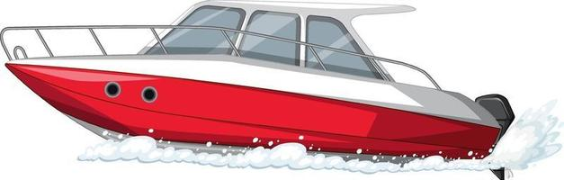 Speedboat or motorboat isolated on white background vector