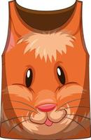 Tank top with face of hamster pattern vector
