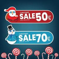 Christmas sale discount Special offer Vector illustration