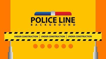 Under construction website page with black and yellow striped borders vector