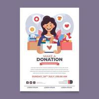 Make a Donation Poster vector