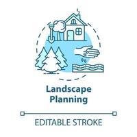 Landscape planning concept icon vector