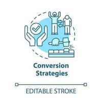 Conversion strategies concept icon vector