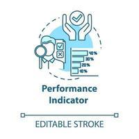 icono de concepto de indicador de rendimiento vector