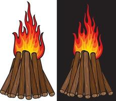 Big Bonfire Design vector