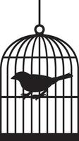 Silhouette of Bird Cages vector