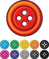 conjunto de botones de costura vector