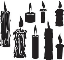 Collection of Candles vector