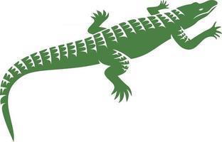 Crocodile or Alligator Symbol vector