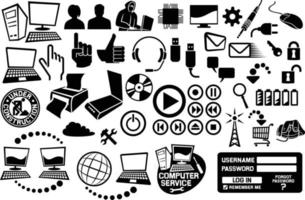 Computer And Communication Icons Collection vector