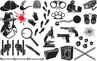 conjunto de iconos de vector detective