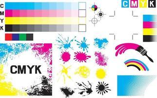 Cmyk Press Marks Design vector