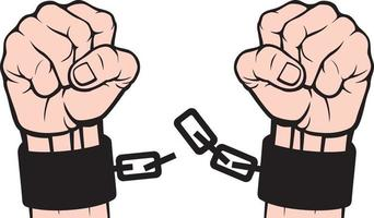 Hand and Chains vector