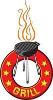 Barbecue Grill Label vector