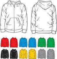 Hooded Sweatshirt Collection vector