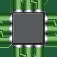 Computer Microchip Icon vector