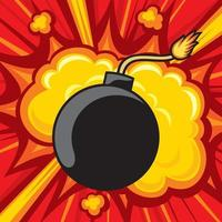 Old Bomb Starting to Explode vector