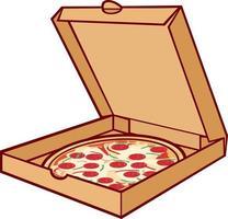 Pizza on Box vector